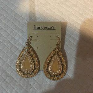 Francesca's gold tone earrings